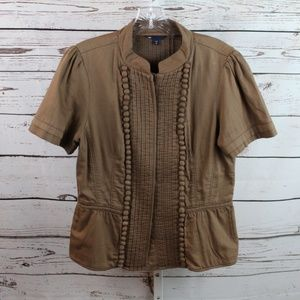 Gap short sleeve top size M brown